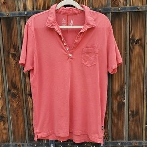 Howe Coral Salmon Polo Shirt L Large